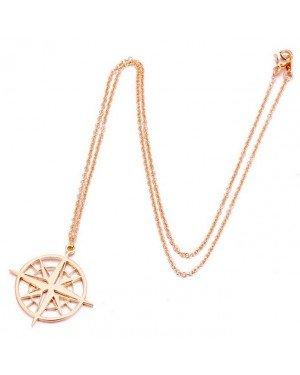 LGT Jewels Dames ketting kompas Rose