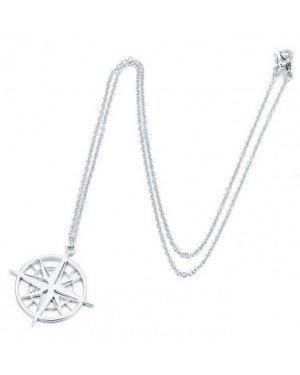 LGT Jewels Dames ketting kompas Zilverkleurig