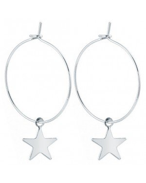 LGT Jewels Damesoorbellen met Grote Ring en Zilveren Ster