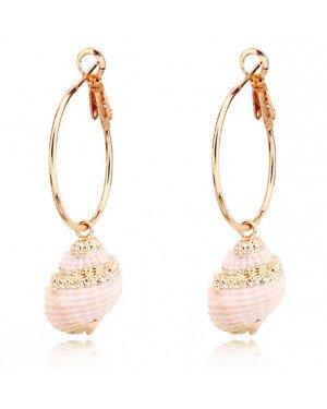 LGT Jewels Damesoorbellen met Leunende Schelp