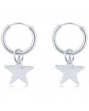 LGT Jewels Damesoorbellen met Zilveren Ster