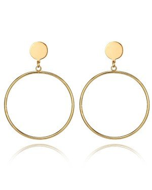 LGT Jewels Gouden Damesoorbellen Cirkelvorm