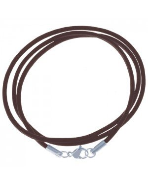 LGT Jewels leren koord ketting bruin 3mm