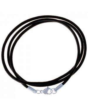 LGT Jewels leren koord ketting zwart 2mm