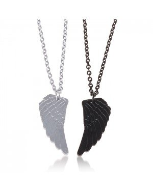 LGT Jewels Liefde ketting Edelstaal Double Wing