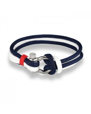 LGT Jewels Marine armband Double Navy Blue White