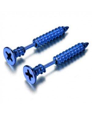 LGT Jewels Schroef oorbellen Blauw