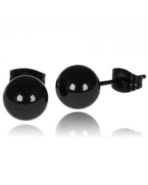 LGT Jewels Stud oorbellen Bol Zwart