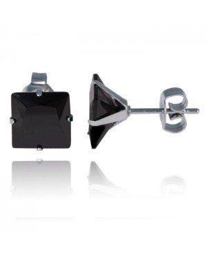 LGT Jewels Stud oorbellen Edelstaal Classic Black