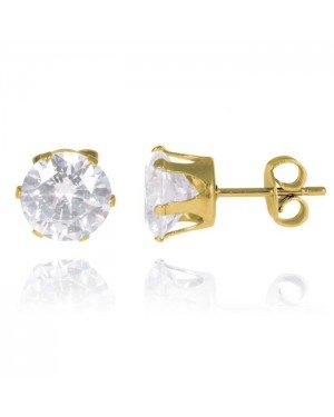 LGT Jewels Stud oorbellen Gold Edition Round 6mm