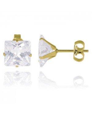 LGT Jewels Stud oorbellen Gold Edition transparent