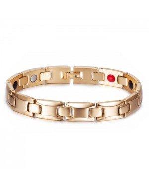 Magnetische Energie armband Mendes Edelstaal Goudkleurig