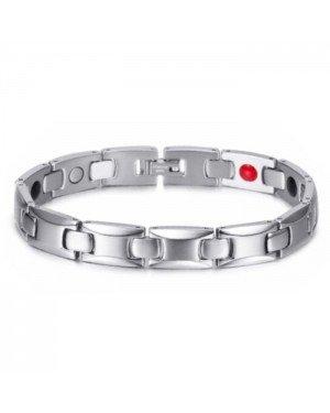 Magnetische Energie armband Mendes Edelstaal Zilverkleurig