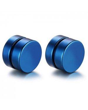 Magnetische Stud oorbellen Blauw 8mm