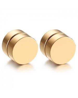 Magnetische Stud oorbellen Goud 8mm