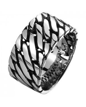 Mannen ring Staal Silver Chain