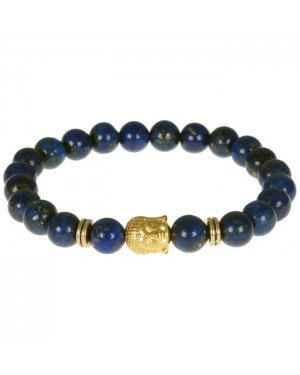 Memphis kralen armband Blue Lapis Lazuli Buddha