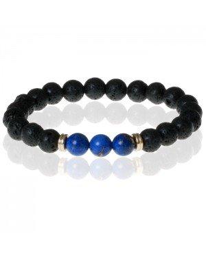 Memphis Kralen armband Lavastone Royalty Blue