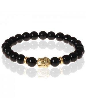 Memphis kralen armband Natuursteen Buddha Gold