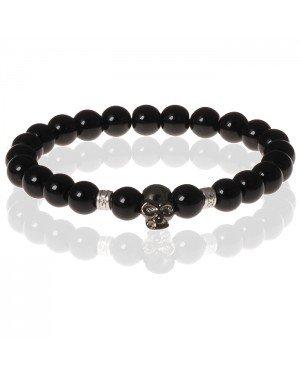 Memphis Kralen armband Onyx Skull