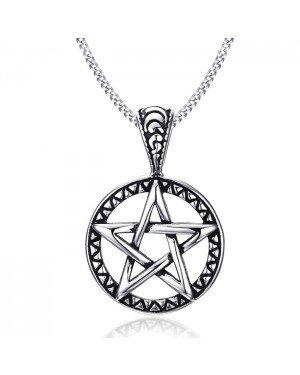 Mendes heren ketting Edelstaal Pentagram