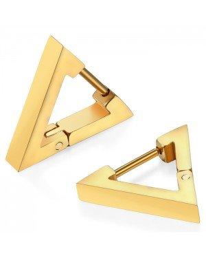 Mendes heren oorbellen Edelstaal Triangle Goudkleurig