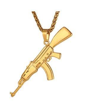 Mendes kettinghanger Edelstaal AK47 Gold