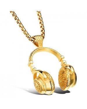 Mendes heren kettinghanger Headphone Gold