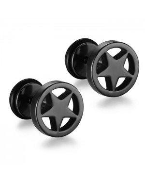 Mendes Star Stud oorbellen Black