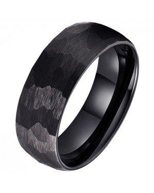Tom Jaxon wolfraam Ring Facet Mat Zwart