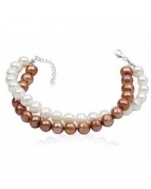 Modieuze dubbele armband Beads