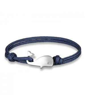 Parachute koord armband LGT Jewels Walvis Anker Navy Blauw