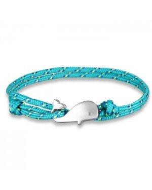 Parachute koord armband LGT Jewels Walvis Anker Turquoise