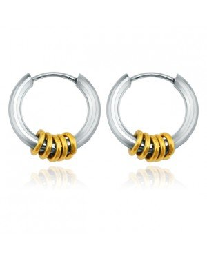 Stalen creolen Flexible Rings Silver Gold