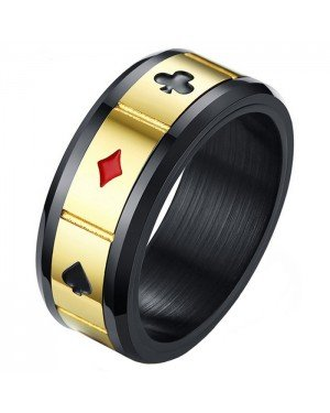 Stalen mannen ring Lucky Cards Spinner