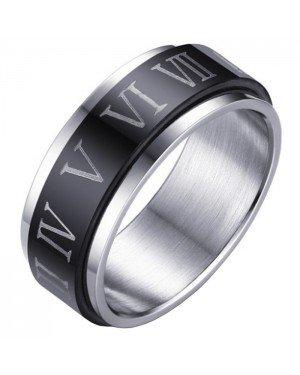 Stalen Spinning ring met Romeinse Cijfers