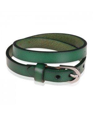 Stone Valley wrap armband Leer Verstelbaar Gesp Groen