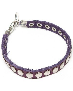 Sugarz leren armband Studs Purple
