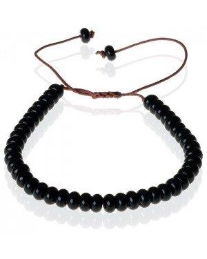 Tom Jaxon kralen armband Onyx Natuursteen Verstelbaar Zwart