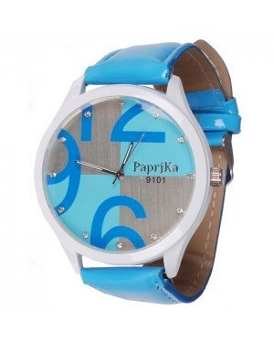 Womage Fashion horloge Big Dial Blue