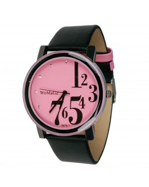Womage Fashion horloge Roze Zwart
