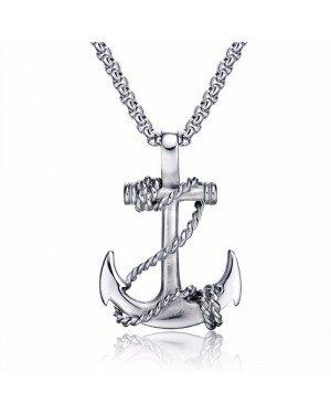 Zilverkleurige anker kettinghanger van Mendes Jewelry
