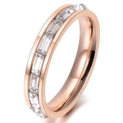 LGT Jewels Dames ring Edelstaal Verguld Rose Zircon