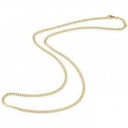 LGT Jewels Cubaanse koord ketting Goudkleurig 3mm