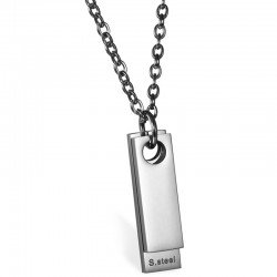 Luxe Dogtag kettinghanger mendes Zilver