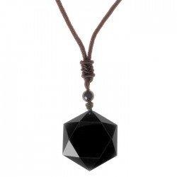 Zwart Obsidiaan kettinghanger Talisman Amulet