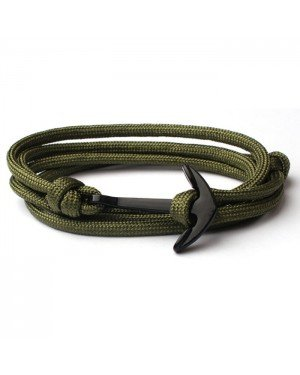Anker armband Army polyester koord