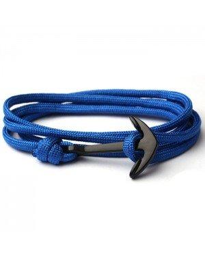 Anker armband Blauw polyester koord