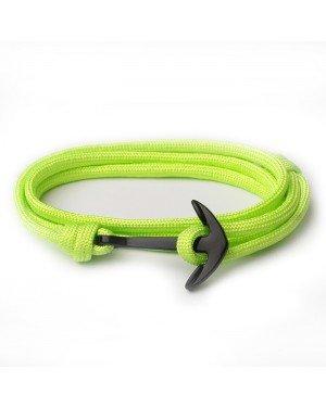 Anker armband Neon Groen polyester koord