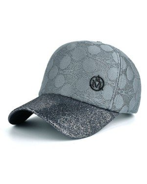 Baseball Cap Knitted Grey